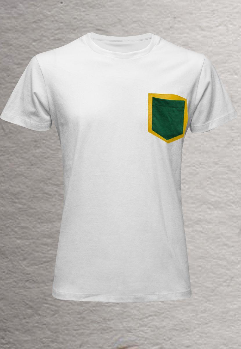 Camiseta Couro Brasil (Masculino Adulto)