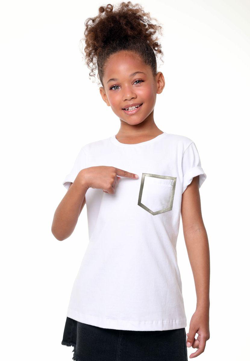 Camiseta Couro Gold/Silver  (Feminino Infantil)
