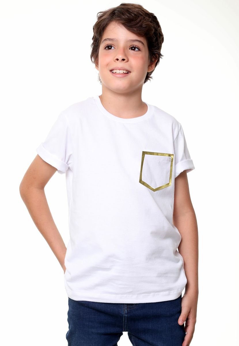 Camiseta Couro Gold/Silver  (Masculino Infantil)