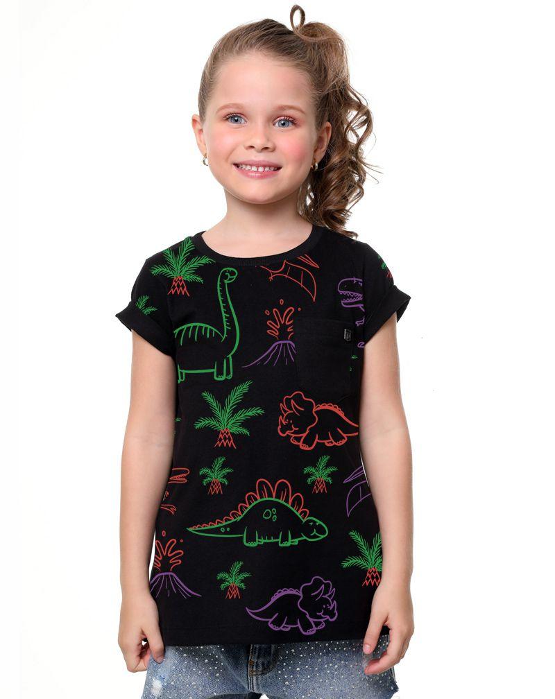 Camiseta Dinossauros (Infantil Feminino)
