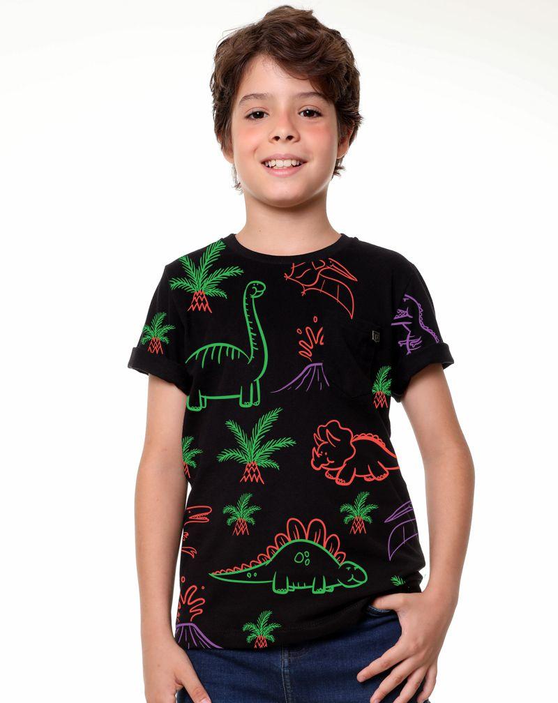 Camiseta Dinossauros (Infantil Masculino)