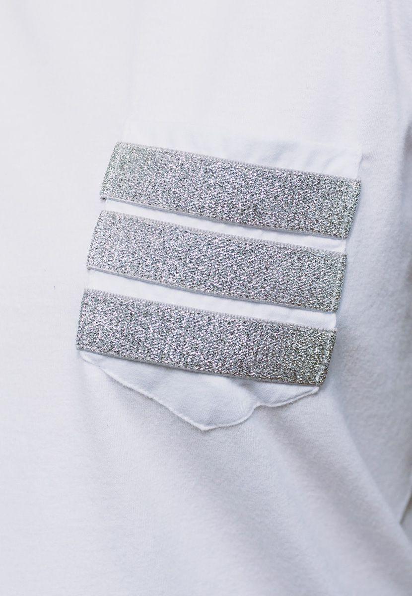 Camiseta Elástico Listras Silver  (Masculino Adulto)