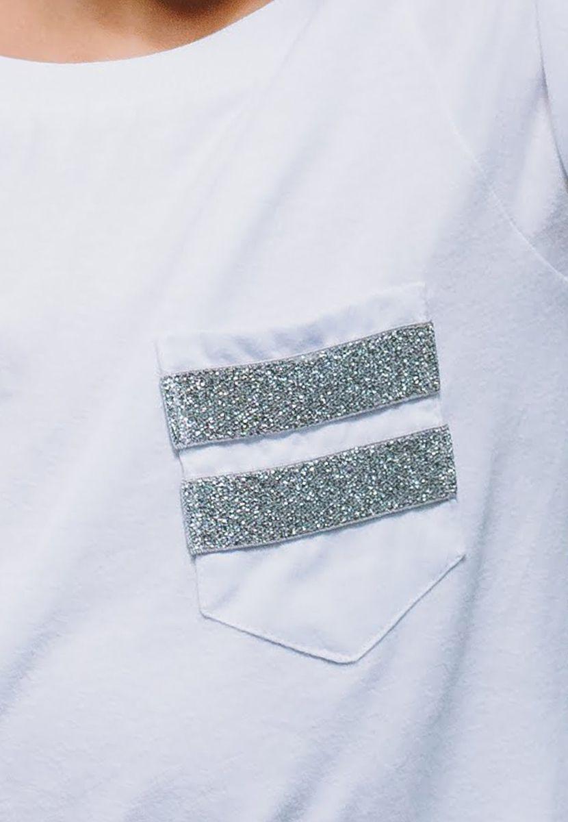 Camiseta Elástico Listras Silver  (Masculino Infantil)