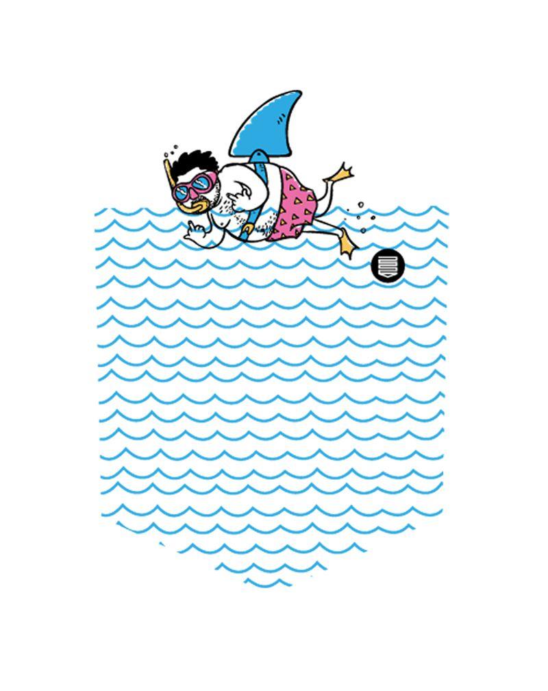 Camiseta Fake Shark (Infantil Feminino)