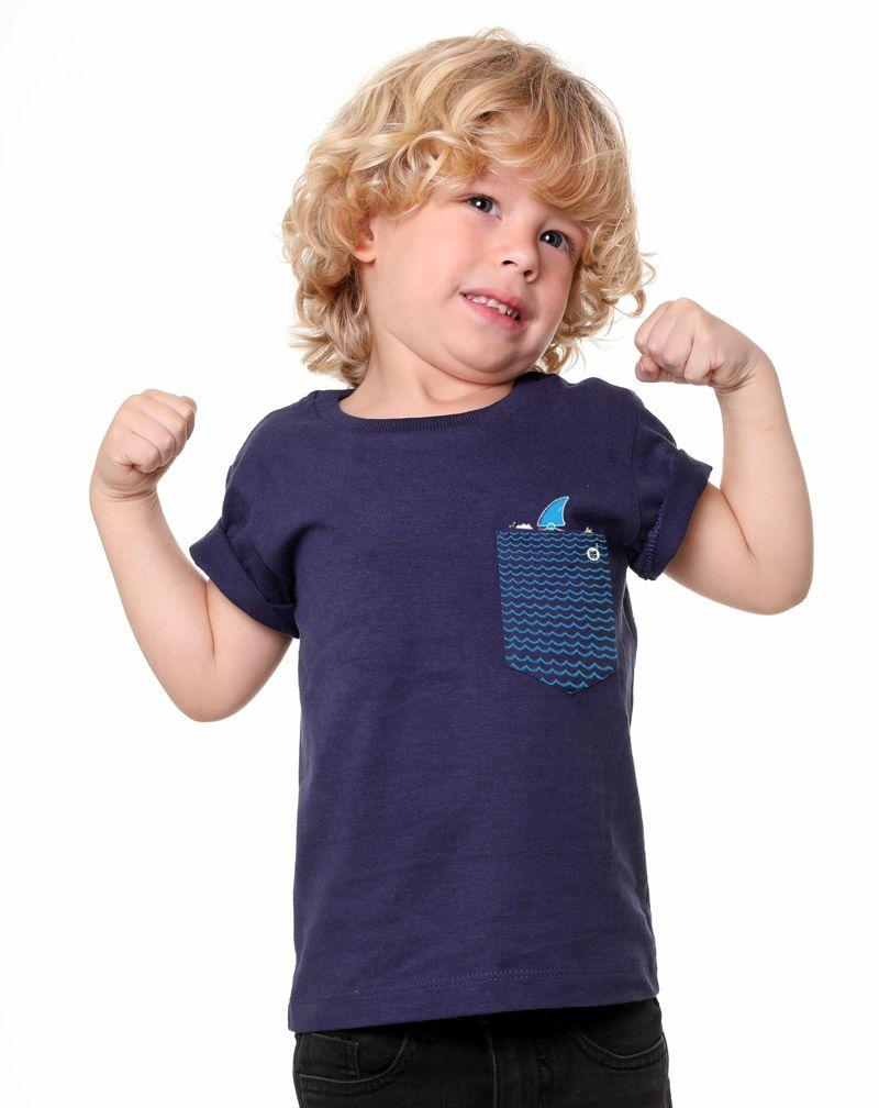Camiseta Fake Shark (Infantil Masculino)