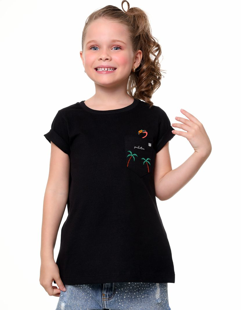 Camiseta Flamingo Tropical (Infantil Feminino)