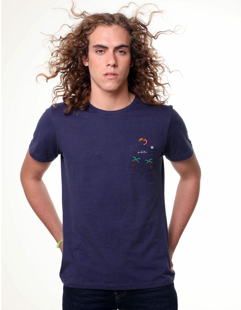 Camiseta Flamingo Tropical (Masculino Adulto)