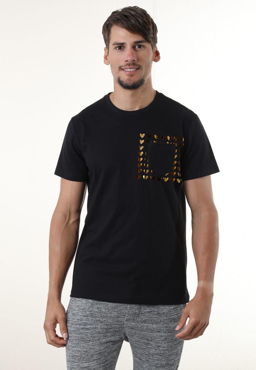 Camiseta Hearts Bolso