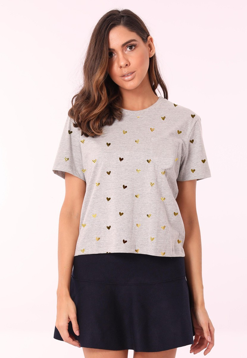 Camiseta Hearts Foil