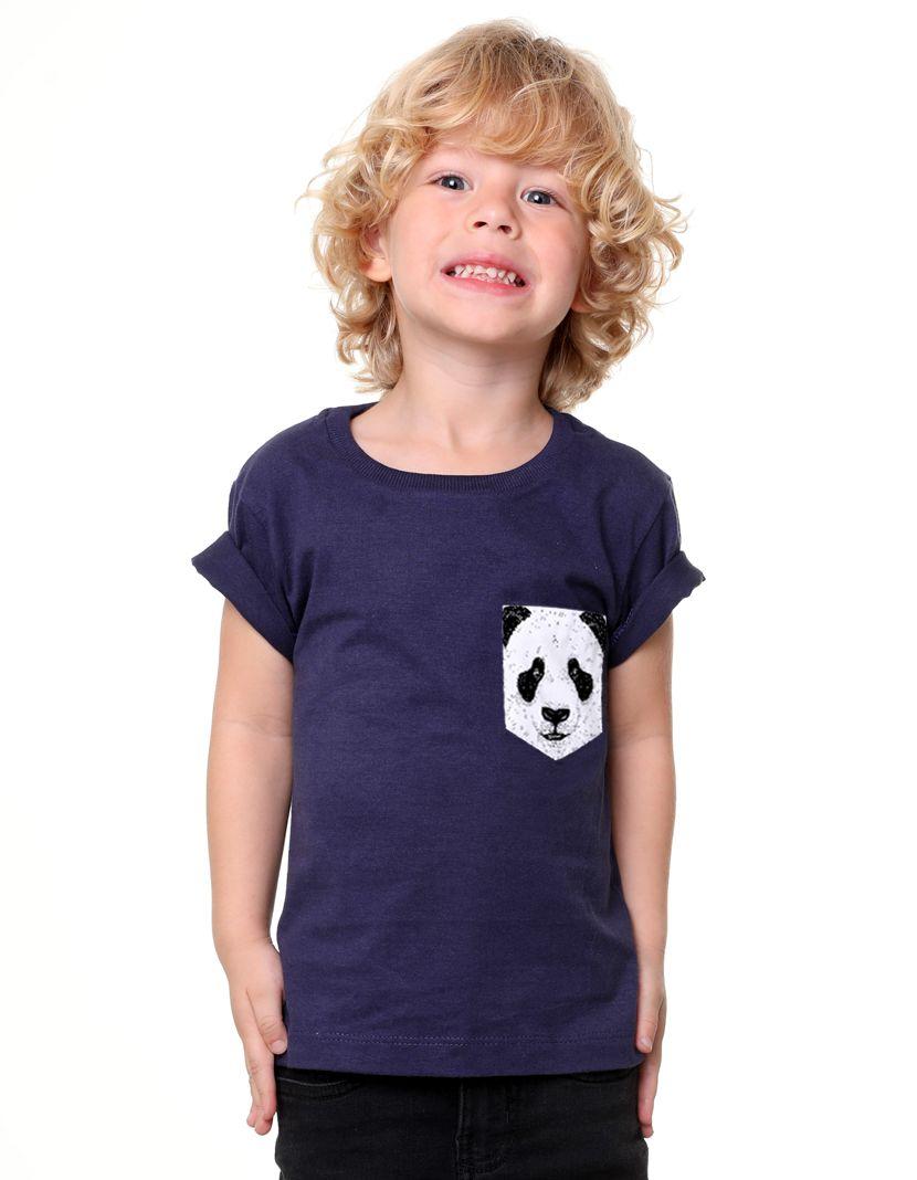Camiseta Panda (Infantil Masculino)