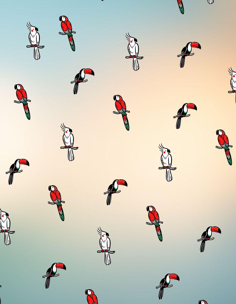 Camiseta Pássaros Full (Masculino Adulto)