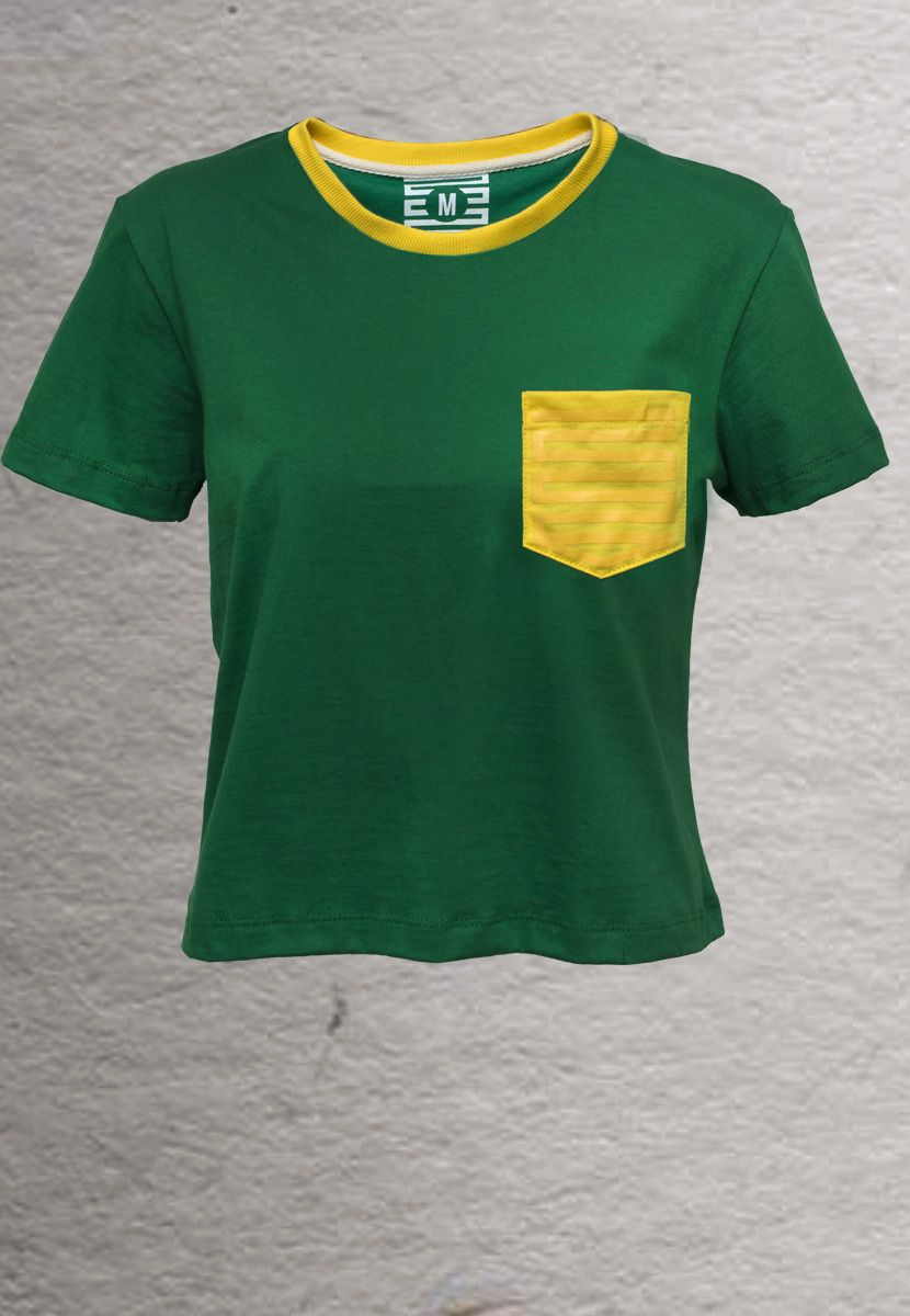 Camiseta Pin Brasil (Feminino Adulto)