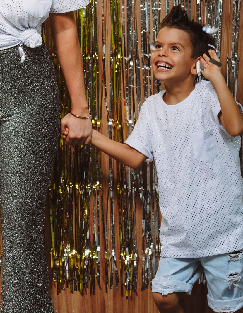 Camiseta Poá Gold/Silver  (Masculino Infantil)