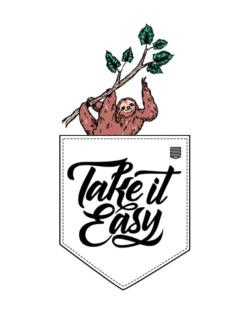 Camiseta Take it Easy (Feminino Adulto)