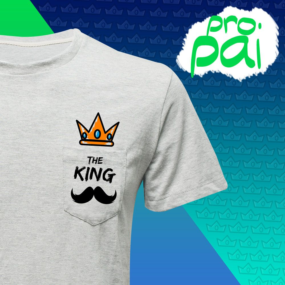 Camiseta THE KING (Masculino Adulto)