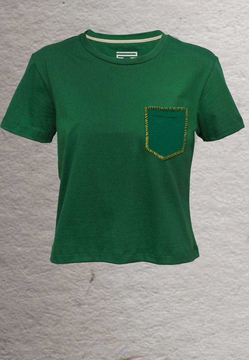 Camiseta Zig Zag Borda Brasil (Feminino Adulto)