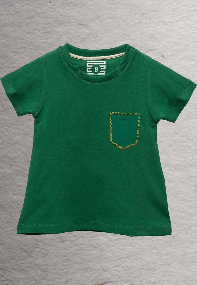 Camiseta Zig Zag Borda Brasil (Infantil Feminino)