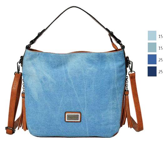 Bolsa Feminina Azul : Bolsa feminina ombro jeans azul claro ag