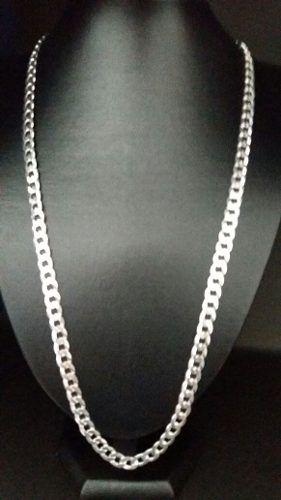 Cordão Corrente Italiana Grumet Prata 925 70 Cm 7,5 Mm 40 Gr