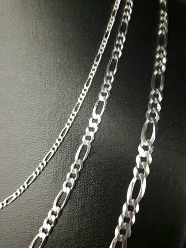 7888a083d7689 Conjunto 3 Correntes Em Prata 925 Maciça Modelo Elos 3 X 1 - TOTAL ...