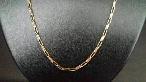 1b09faf464b Corrente Cordão Cartier Oca Alongada 60cm Masculino Ouro 18k - TOTAL PRATAS  JOIAS E ACESSORIOS LTDA