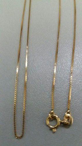 Linda Corrente Veneziana 45 Cm 1,3 Gramas Em Ouro 18k 750 - TOTAL PRATAS  JOIAS E ACESSORIOS LTDA 54e64d5b22