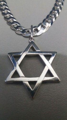 Pingente Modelo Estrela De Davi Em Prata 925 Maciça 2 Gramas