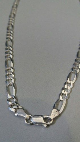 Corrente Em Prata 925 - 70 Cm - Elos 3x1 4,7 Mm 13 Gramas