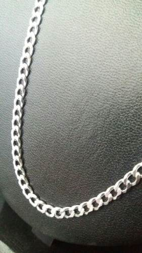 Corrente Italiana Grumet Prata 925 Maciça 60 Cm 4,3 Mm 13gr