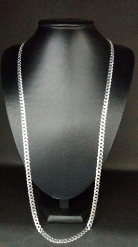 Corrente Cordão Masculino Grumet 80 Cm 7 Mm Em Prata 925