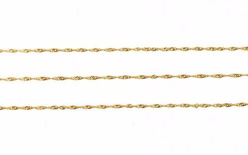 1906d615aa012 Colar Corrente Cordão Em Ouro 18k Feminina Singapura 50cm - TOTAL PRATAS  JOIAS E ACESSORIOS LTDA