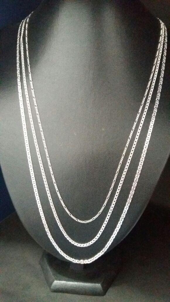 8968446f34 Correntes de prata diversas - TOTAL PRATAS JOIAS E ACESSORIOS LTDA