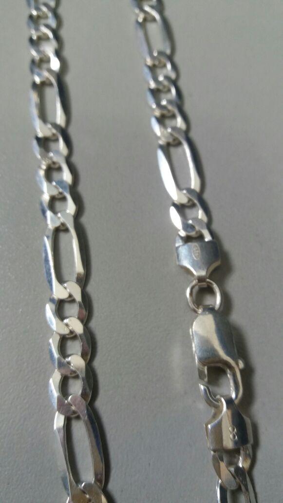 Cordão Corrente Italiana 3 Em 1 7mm X 70cm Em Prata 925