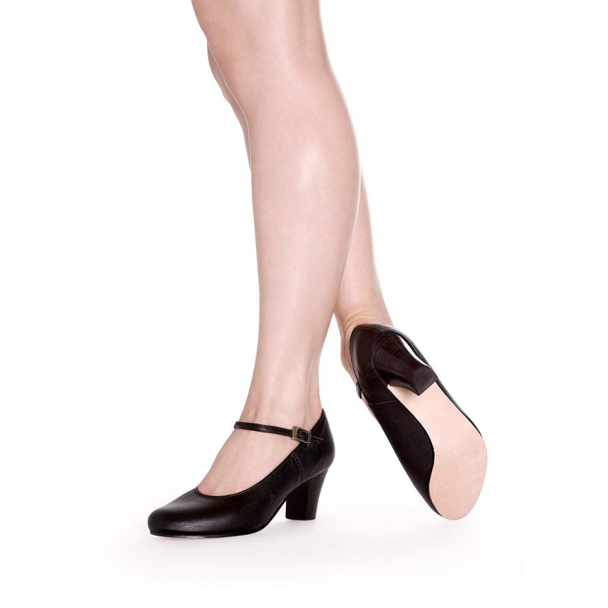 3a0526be1df Sapato Dança de Salão Sola de Camurça - (Ref. BL58) - QueDança ...