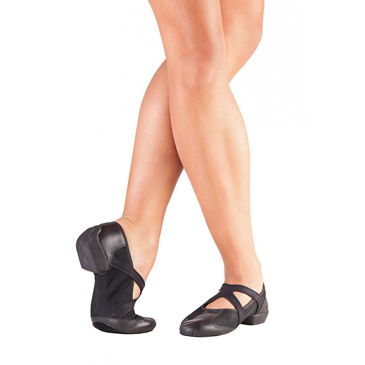 41a261ca81 JZ100) - QueDança Sapato Split Sole Feminino para Jazz - (Ref. JZ100) -  QueDança