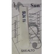 Palheta Acrílica SUN 1.5 - Saxofone Alto - 5 Unidades
