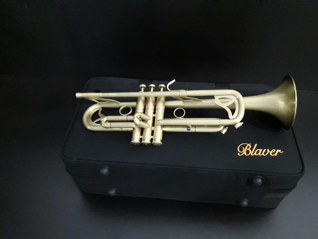 Trompete Bb Profissional BLAVER  - Scavone Instrumentos Musicais