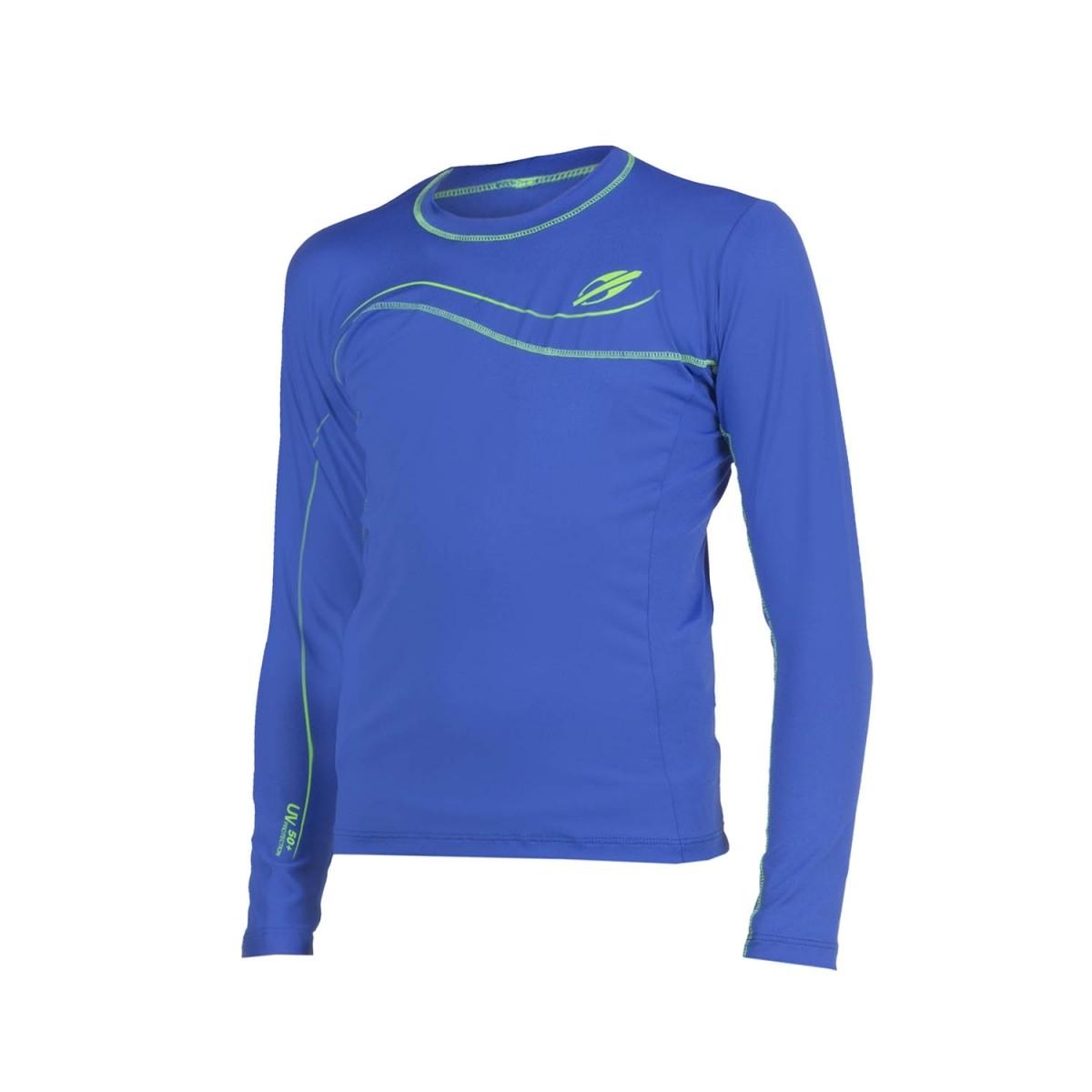 Camiseta M-Dry UV Infantil M/L Masculino Azul