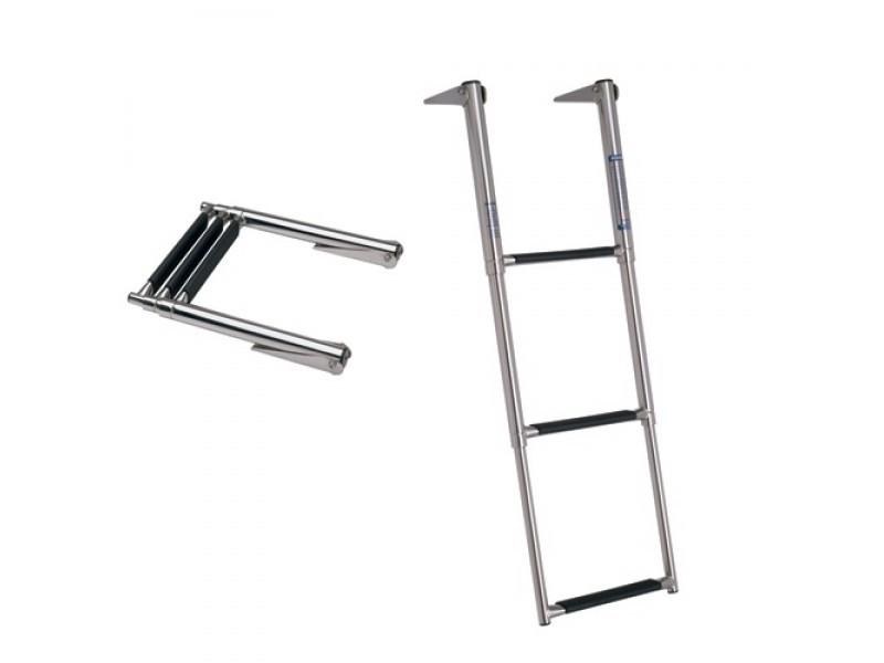 Escada Telescópica de Inox 3 Degraus