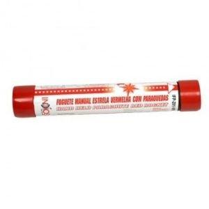 Foguete Manual Estrela Vermelha com Paraquedas