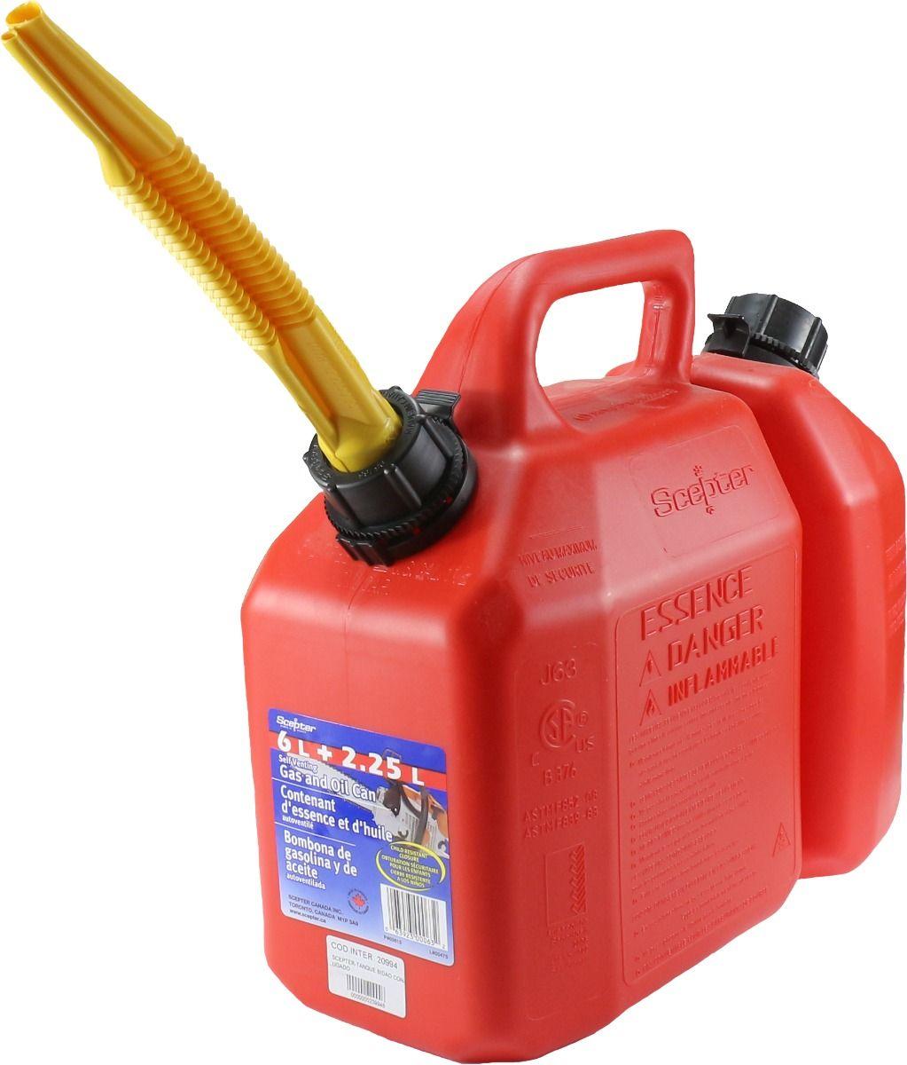 Galão de combustível Conjugado 6 Lts/2,5 Lts