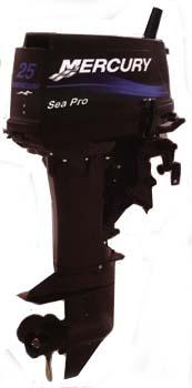 Motor de popa Mercury 25 HP Sea Pro