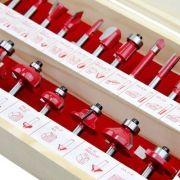 4ea96327182e3 Jogo Fresa Para Tupia 24 Peças Vermelha 680400 Lee Tools