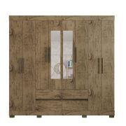 Guarda Roupa 2084 8 Portas com Espelho 4 Gavetas cor Demolição - Araplac