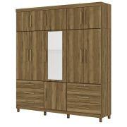 Guarda Roupa Triton Plus com Espelho 11 Portas 6 Gavetas Amêndoa - Albatroz