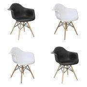 Kit 8 Cadeiras Eiffel Melbourne com Pés Palito em Madeira - Facthus