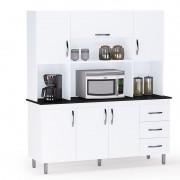 Armário Para Cozinha 6 Portas e 3 Gavetas - Kit Ana Clara - AJL