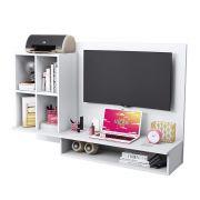 Painel de TV com Bancada Escrivaninha Show Branco - Albatroz