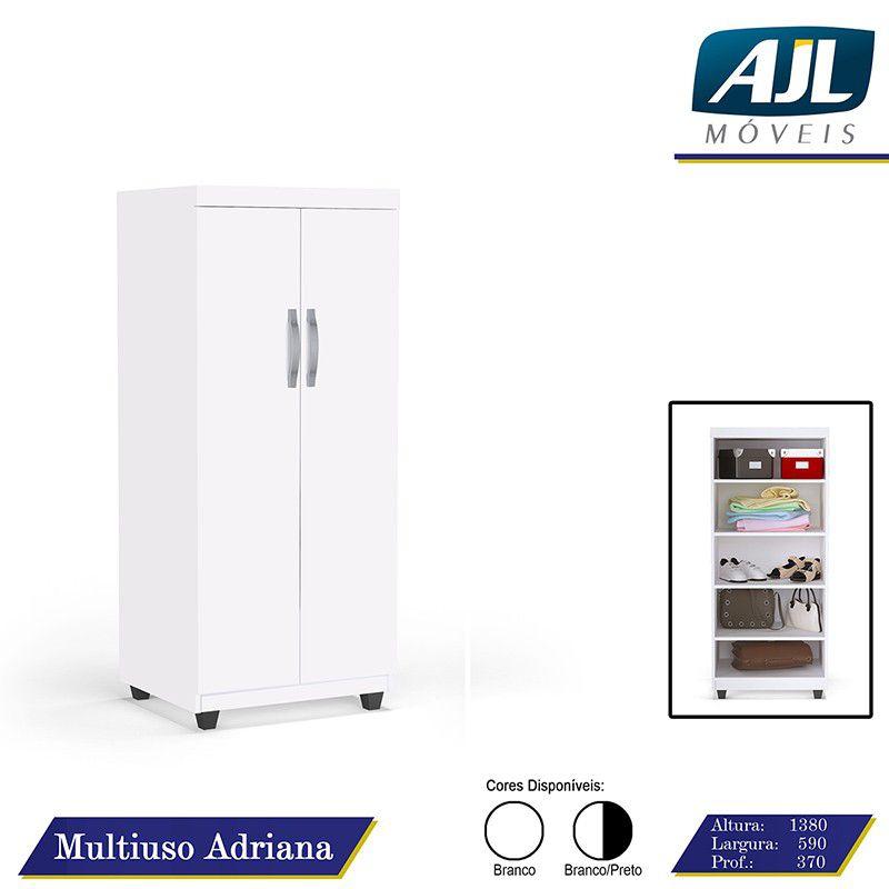 Armário Multiuso Adriana - 2 Portas Branco - AJL