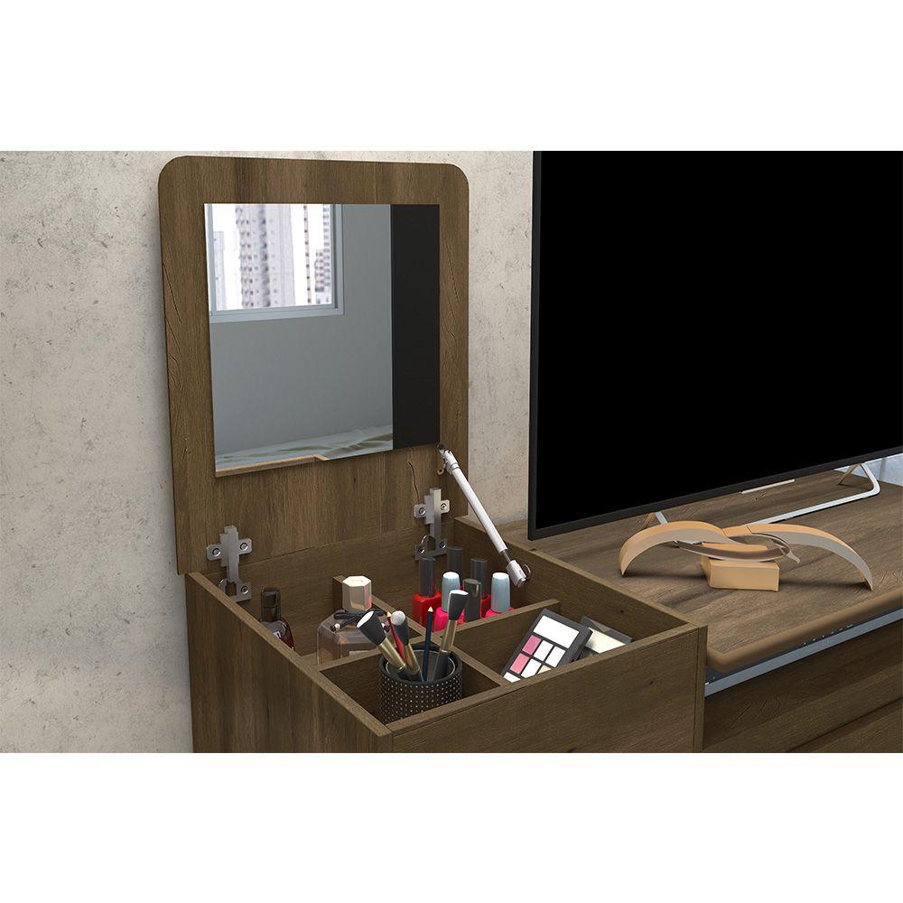 Cômoda Munique com Espelho 4 Gavetas 1 Porta Cedro - Albatroz